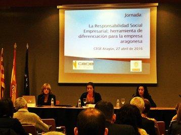 Representantes de MRT Consultores, CREA Aragón y Bureau Veritas